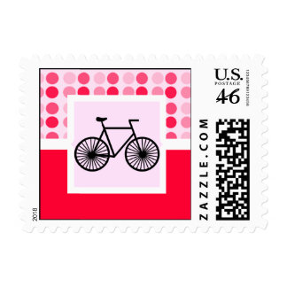 Cute Bicycle Stamp