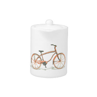 Cute bicycle teapot
