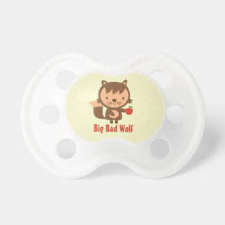 Cute Big Bad Wolf with Apple for Babies Pacifier
