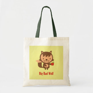 Cute Big Bad Wolf with Apple for Kids Bag