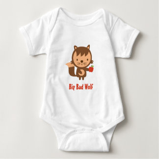 Cute Big Bad Wolf with Apple for Kids Shirt