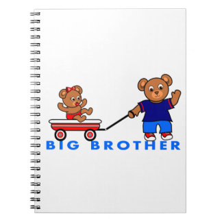 Cute Big Brother Little Sister Bears Notebook