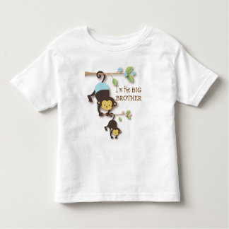 Cute Big Brother Monkey with Lil' Baby Sis T-shirts