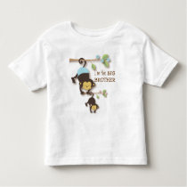 Cute Big Brother Monkey with Lil' Baby Sis Toddler T-shirt