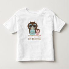 Cute Big Brother Owl with Sleepy Lil' Baby Sis Toddler T-shirt