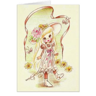Cute Big Eye Girl Art Cards