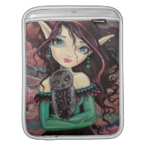 Cute Big-Eye Gothic Fairy and Owl iPad Sleeve