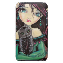 Cute Big-Eye Gothic Fairy and Owl iPod Touch Case-Mate Case