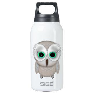 Cute Big Eye Owl Illustration 10 Oz Insulated SIGG Thermos Water Bottle