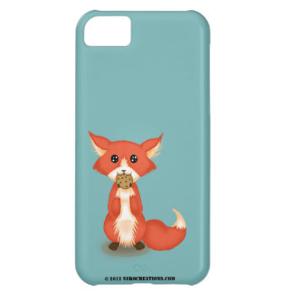 Cute Big Eyed Fox Eating A Cookie Case For iPhone 5C
