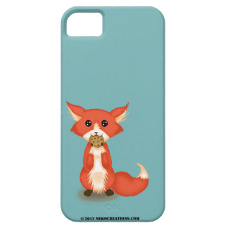 Cute Big Eyed Fox Eating A Cookie iPhone 5 Covers