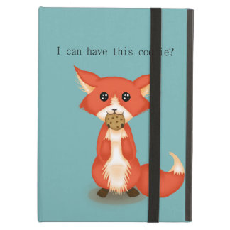 Cute Big Eyed Fox Eating A Cookie Cover For iPad Air