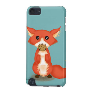 Cute Big Eyed Fox Eating A Cookie iPod Touch (5th Generation) Case