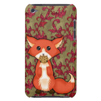 Cute Big Eyed Fox Eating A Cookie iPod Touch Case-Mate Case