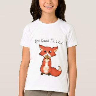 Cute Big Eyed Fox Eating A Cookie T-Shirt