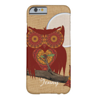Cute Big Eyed Night Owl Barely There iPhone 6 Case