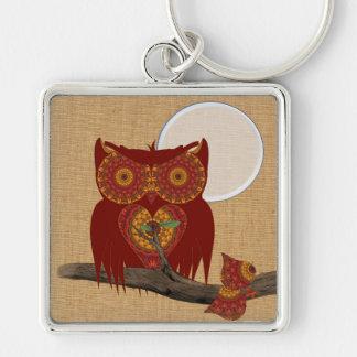 Cute Big Eyed Night Owl Keychain