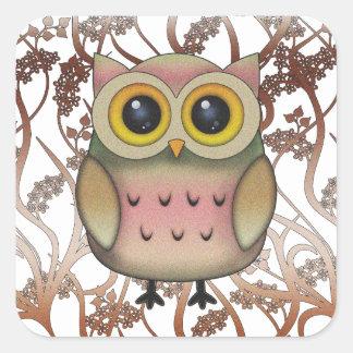 Cute Big Eyed Owl Stickers