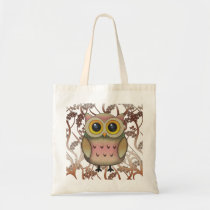 Cute Big Eyed Owl Tote Bag
