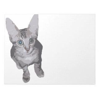 Cute Big Eyes Kitty Note Pad