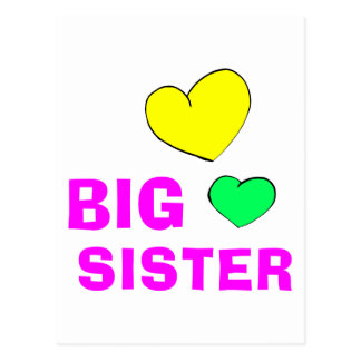 Cute Big Sister Postcard
