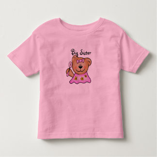 Cute Big Sister Teddy Bear in Pink Toddler T-shirt