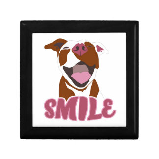 Cute Big Smiles Pitbull Gift Box