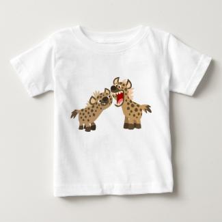Cute Big-Teethed Cartoon Hyenas Baby T-Shirt