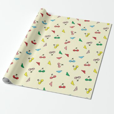 Beach Themed cute bikinis wrapping paper