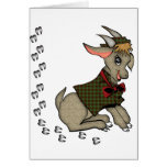 Cute Billy Goat with Bowtie Greeting Card