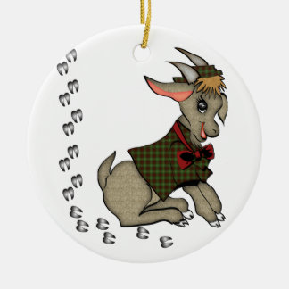 Cute Billy Goat with Bowtie Ornament