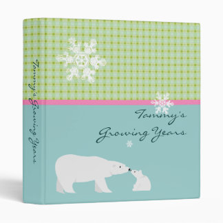 Cute Binder with Polar Bears - Customizable