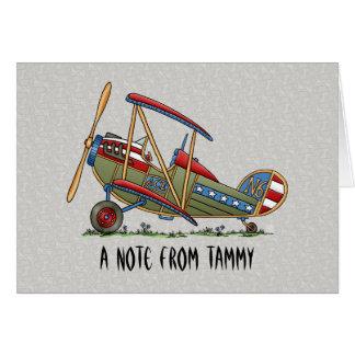 Cute Biplane Card