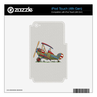 Cute Biplane Decal For iPod Touch 4G