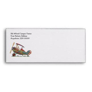 Cute Biplane Envelope