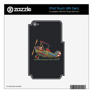 Cute Biplane iPod Touch 4G Decals