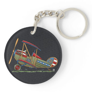 Cute Biplane Keychain