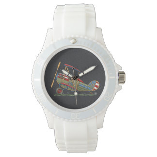 Cute Biplane Wrist Watch