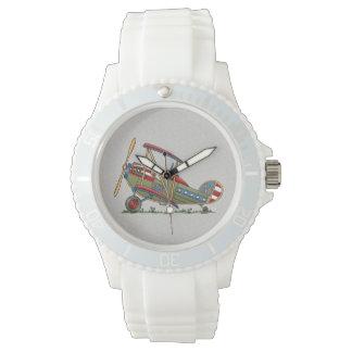 Cute Biplane Wrist Watch