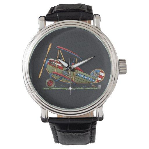 Cute Biplane Wristwatches