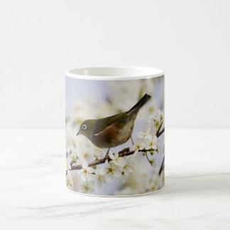 Cute Bird and Cherry Blossom Coffee Mug