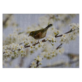 Cute Bird and Cherry Blossom Cutting Board
