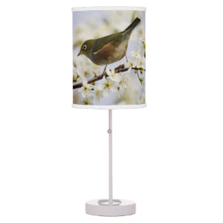 Cute Bird and Cherry Blossom Table Lamp