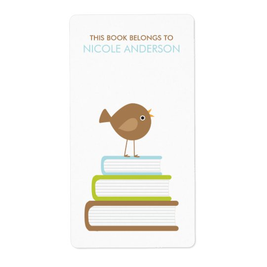 Cute Bird Bookplates Labels