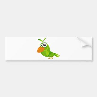 Cute bird bumper sticker