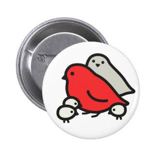 Cute Bird Family 2 Inch Round Button