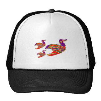 Cute Bird Family : Happy Decorative Art Trucker Hat