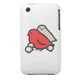 Cute Bird Family iPhone 3 Cover