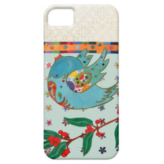 Cute bird flying and singing iPhone 5 case