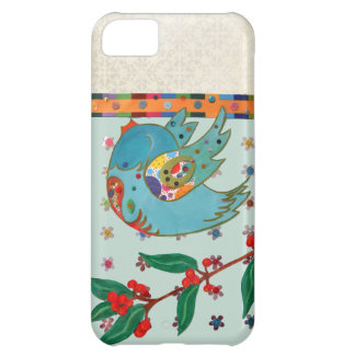 Cute bird flying and singing iPhone 5C case